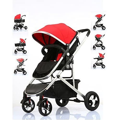 Fly Kids Pram Travel System 3 in 1 Combi Stroller Buggy Baby Child Pushchair Reverse or Forward facing Rain Cover Mosquito Net Bottle Holder Foldable