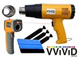 VViViD Professional Heat Gun Automotive Vinyl Wrap Tool Including Precision Nozzle and 3M Toolkit (Incl. Nozzle, Toolkit & Digi. Thermometer)