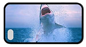 Hipster awesome iPhone 4 covers shark jump TPU Black for Apple iPhone 4/4S