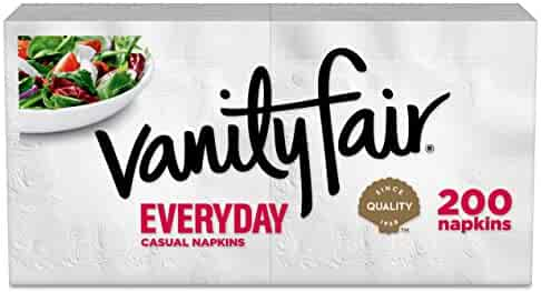 Vanity Fair Everyday Napkins, 400 Count Paper Napkins (2 Packs of 200 Napkins) (Packaging Design May Vary)