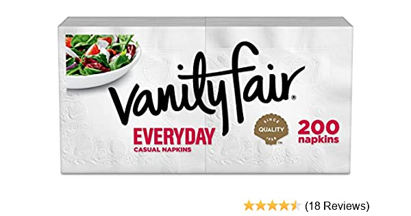 Amazon.com: Vanity Fair Everyday Napkins, 200 Count (Packaging Design May Vary): Health & Personal Care