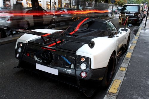 - Pagani Zonda Cinque Right Rear HD Poster Super Car 48 X 32 Inch Print