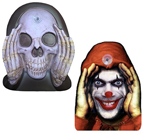 2-Pack Scary Peeper Window Cling - Clown and Reaper Peeping Tom Shocking Pranks Combo Set, Creepy Halloween Decorations (Peeping Tom Sticker)