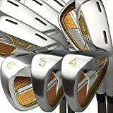 Japan Epron TRG 4-Sw Iron Matrix Stain Steel Chrome Golf Club Set(Regular Flex,Graphite Shaft,Grip 0.6 inches,Pack of 8)