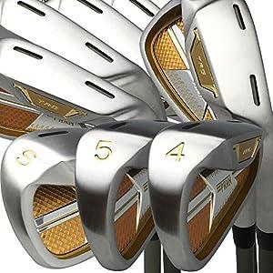 Amazon.com : Japan Epron TRG 4-Sw Iron Matrix Stain Steel Chrome Golf Club Set(Regular Flex