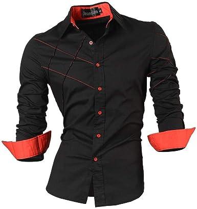 Vestido de Moda para Hombre Camisas Casuales con Botones ...