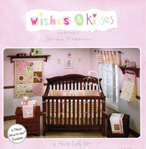 Wishes and Kisses 4 piece crib set Ladybugs and Butterflies
