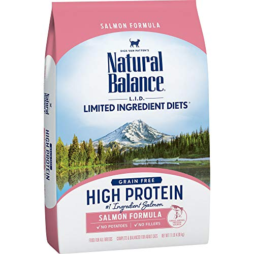 Natural Balance L.I.D. Limited Ingredient Diets High Protein Dry Cat Food For Adult Cats, Salmon Formula, 11-Pound