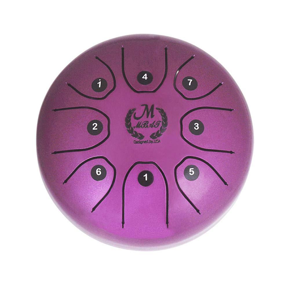 Keptfeet tambour Langue en Acier 14/cm avec baguettes et sac de transport Handpan tambour Instrument de percussion pour son Gu/érison blanc