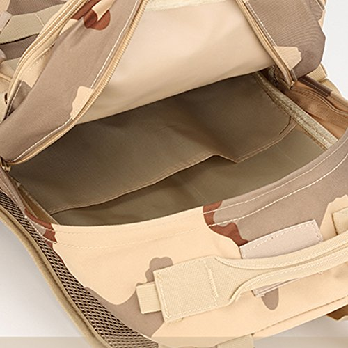 Dreamore 35L Sport Rucksack Im Freien Freizeit Oxford Tarnung Tuch Multifunktions Anti-regen Atmungsaktiv Schwarz