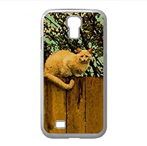 Ginger Cat Watercolor style Cover Samsung Galaxy S4 I9500 Case (Pets Watercolor style Cover Samsung Galaxy S4 I9500 Case)