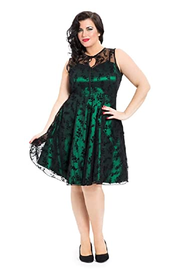 New Emerald Green Lace Voodoo Vixen 50/'s Rockabilly Vintage Cocktail Party Dress