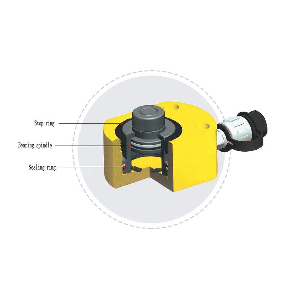 BAOSHISHAN Hydraulic Jack Mini Stroke Thin Type Hydraulic Cylinder 5 Ton 40mm Low Height for Bridge/Machinery (5 Ton)