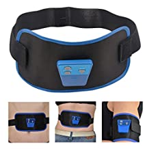 inkint Waist Muscle Massage Trimmer Belt Body Exercise Vibrating Wrappers Supports for Arms/ Legs/ Waist Electric Portable Belly Waist Slimming Belt for Weight Loss