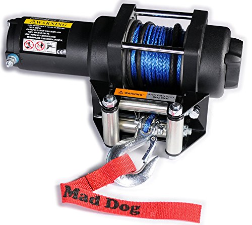 (Mad Dog 3500lb Winch Mount Combo w/Synthetic Rope Can-Am Renegade (G2) 500 570 800 850 1000 ('12-18))