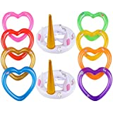 YOUTH UNION Inflatable Unicorn Ring Toss Game -Pool Tools Toys Favors Supplies Party Decorations (2 Pack)