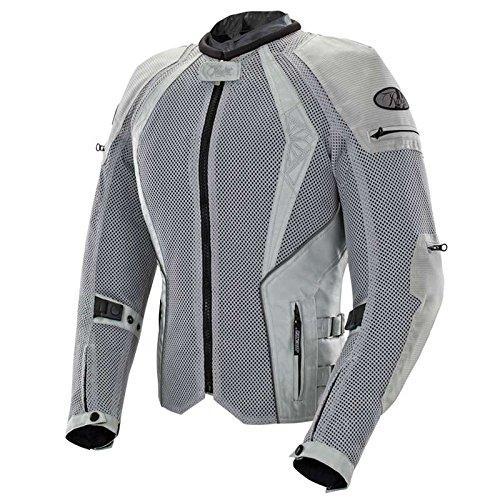 Joe Rocket Cleo Elite Women's Mesh Motorcycle Jacket (Silver, Medium)