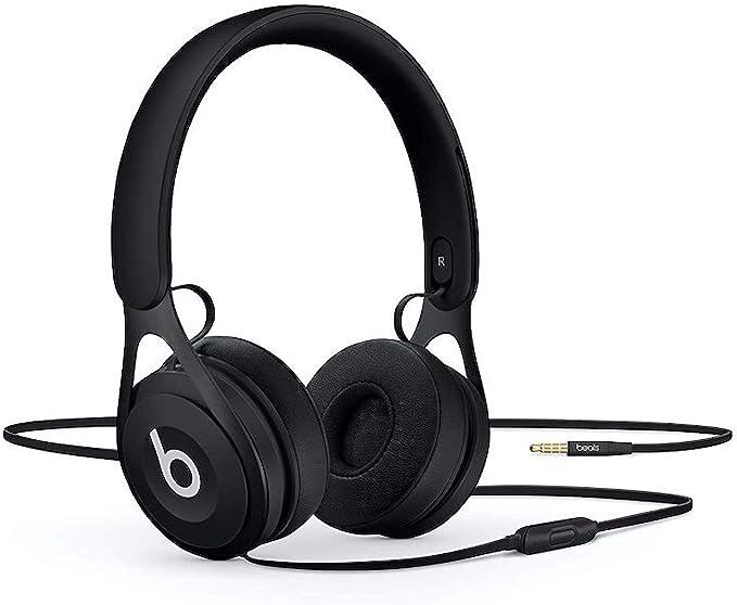 Beats EP - Auriculares supraaurales con cable - Sin batería para escuchar tanto como quieras, controles y micrófono integrados - Negro: Beats: Amazon.es