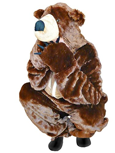 [Fantasy World Brown Bear Costume Halloween f. Men and Women, Size: M/ 08-10, F67] (Bear Halloween Costume Women)