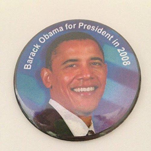 Barack Obama Political Pin Back Button -