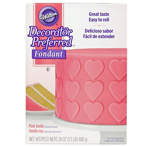 (Wilton Decorator Preferred Pink Fondant, 24 oz. Fondant Icing)