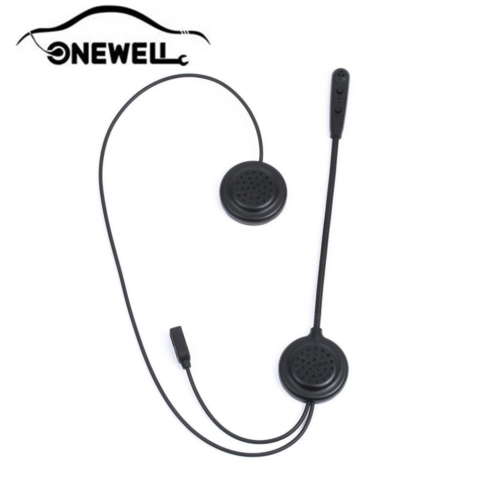 Onewell Wireless Motorcycle Helmet Bluetooth 3.0 with Handle Remote Control 300m/0.19mi Intercom Headset Connect up to 2 Riders