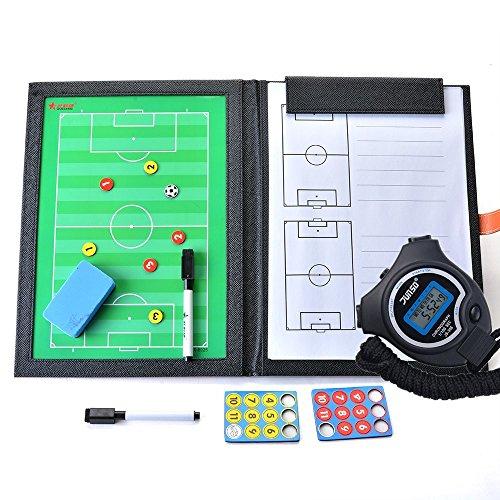 BizoeRade Coaches Taktiktafel Taktiktafel fussball Coach Board mit Stift, Radiergummi, Magnet, Stoppuhr