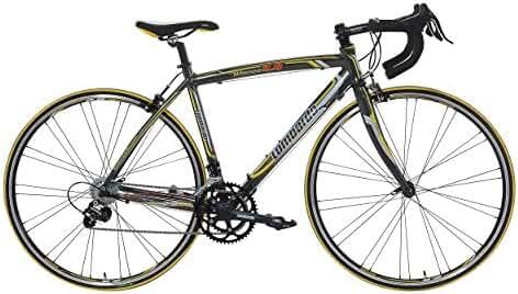 Lombardo Monza 2.0C Road Bike, 700c Wheels, Men's Bike, Anthracite/Yellow, 99% Assembled, 47 cm Frame, 50 cm Frame, 55 cm Frame, 58 cm Frame, 61 cm Frame