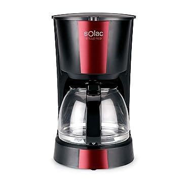 Solac CF4029 Stillo Red Cafetera de Goteo de 1,2 litros, 12 Tazas de café, 900W, Negro y Rojo: Amazon.es: Hogar