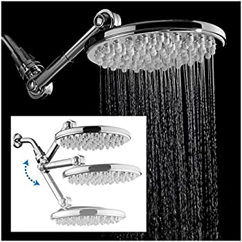 cleaning rain shower head. HotelSpa MOBILIS TM  4 way Adjustable High Pressure 9 5 Rainfall Showerhead