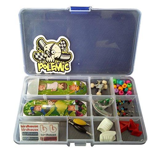 Fanci ABS Finger Skateboard Set Double Rocker DIY Mini Finger Boarding Toy with Storage Box (Tech Deck Storage)