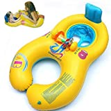 New arrival inflatable baby swimming ring swim ring float seat mother and child swimming circle double swimming rings piscine bebek hediye bak?m?
