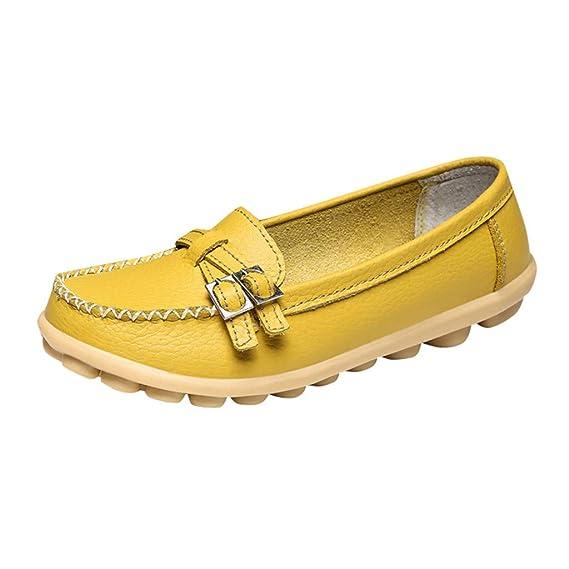 ZARLLE_chanclas Mocasines para Mujer Respirable Ligero,ZARLLE Mocasín Slip-on Casual de Cuero de Mujer Zapatos Planos de Deslizamiento Mocasines de ...