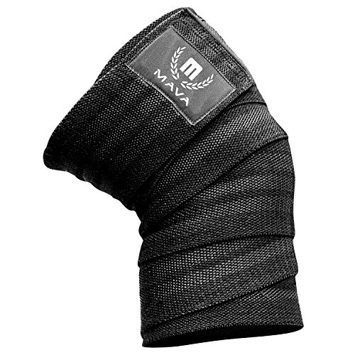 Mava Knee Wrap for Weightlifting - Piece - Black