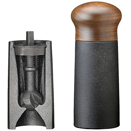 Skeppshult Cast Iron and Walnut Pepper Mill, 6 Inch by Skeppshult