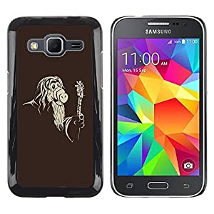 LECELL -- Funda protectora / Cubierta / Piel For Samsung Galaxy Core Prime SM-G360 -- Cool Funny Mask Old Wizard --