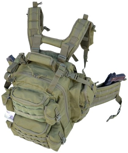 Military Rucksack - Explorer Tactical Bag, Olive Drab Green, 20 x 11.50 x 11-Inch