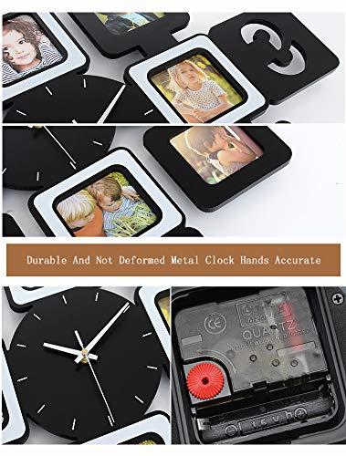 YXMxxm DIY Frame Clock,Modern Design DIY Photo Frame Clock High Density Board Art Pictures Clock - Make Your Own Multi-Photo Clock by YXMxxm (Image #4)