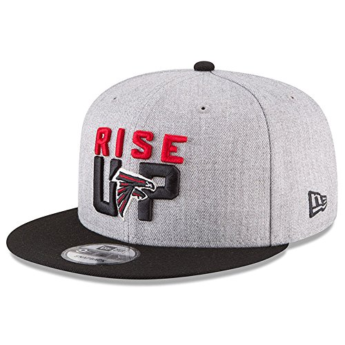 New Era Authentic Atlanta Falcons Heather Gray/Black 2018 NFL Draft Official On-Stage 9FIFTY Snapback Adjustable Hat by New Era