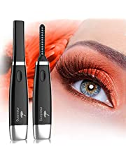 Heated Eyelash Curler, Electric Eyelash Curler For Quick and Long-Lasting Eyelash Natural Curling With 4 Temperature Modes LED Displays USB Rechargeable Portable Eye Beauty Makeup Tools