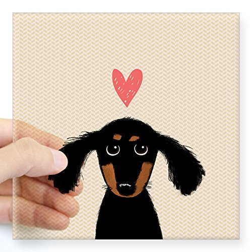 CafePress Dachshund Square Sticker Bumper