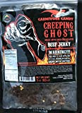 """Creeping Ghost"" Carolina Reaper Beef Jerky (1)-3oz Bag The Reaper is the HOTTEST Pepper in the world! Sweet with Heat~"