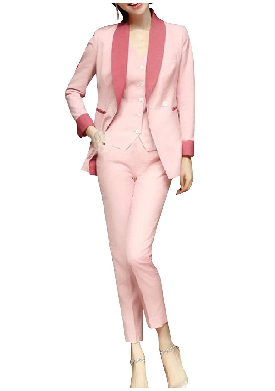 Tootless-Women Business Elegent Slim Fitting Party Blazer Vest/& Pants Set