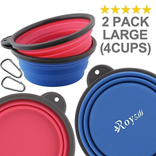 Roysili Collapsible Bowl Dog Blue