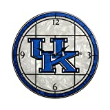 Memory Company Kentucky Wildcats 12in Art Glass Clock