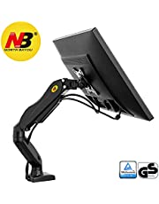 North Bayou Monitor Desk Mount Stand Full Motion Swivel Monitor Arm with Gas Spring for 17''-27'' Monitor frоm 4.4lbs up tо 14.3lbs
