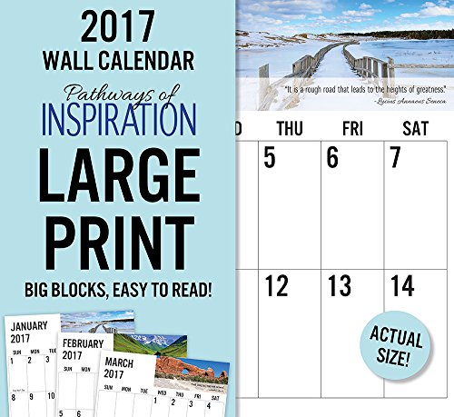 2017 Monthly Wall Calendar - Pathways of Inspiration - Large Print