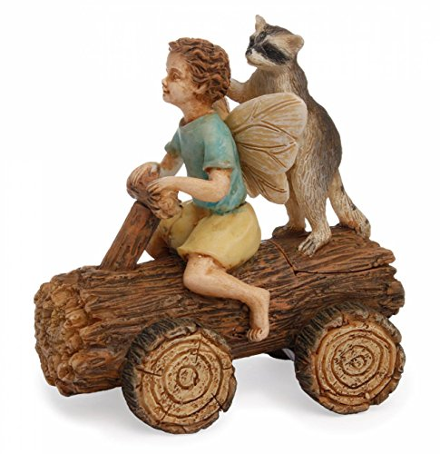 Mg116 Derby Time Racoon Log Go Kart Marshall Home And Garden