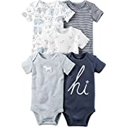 Carter's Baby Boys' 5-Pack Bodysuits 9 Months