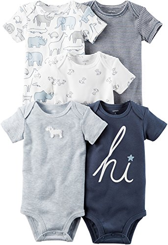 Carter's Baby Boys' 5-Pack Bodysuits 3 (Wholesale Bodysuits)